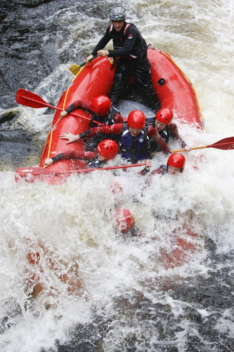 Whitewater Rafting on the river Tryweryn